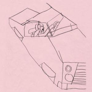 Zeichnung: Paul Waak, 02.055, 2020 Graphit auf Tonpapier, 29.7 x 21 cm